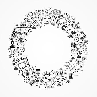 Ring aus der reihe von symbolen. vektor-illustration.