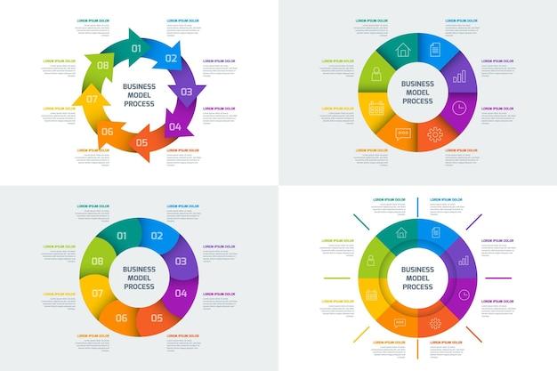 Ring infografik sammlung Kostenlosen Vektoren