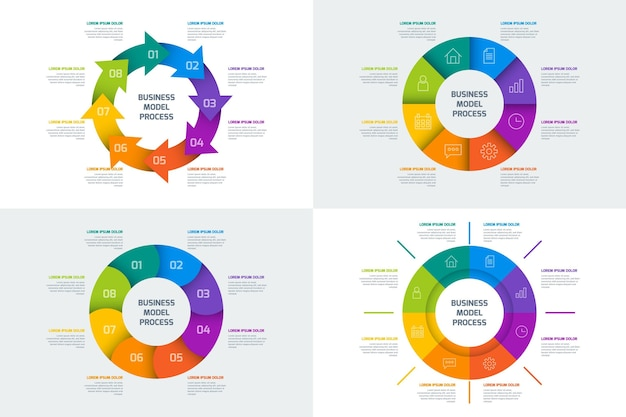 Ring infografik sammlung