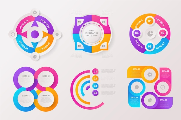 Ring infografik set