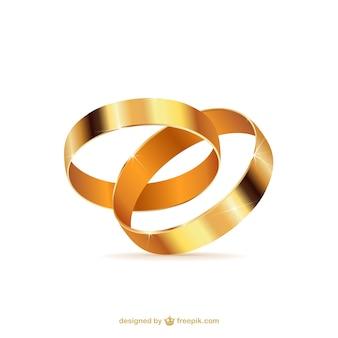 Ringe der goldenen hochzeit
