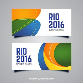Rio banner mit abstrakten formen