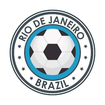 Rio de janeiro brasilien fußballemblem