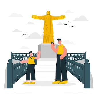 Rio de janeiro konzeptillustration
