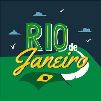 Rio de janeiro stadt schriftzug