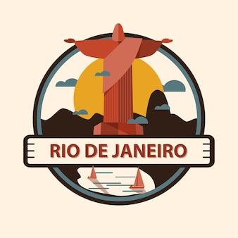 Rio de janeiro-stadtabzeichen, brasilien