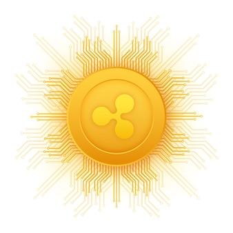 Ripple xrp-kryptowährungssymbol für apps und websites ripple-logo für web und print