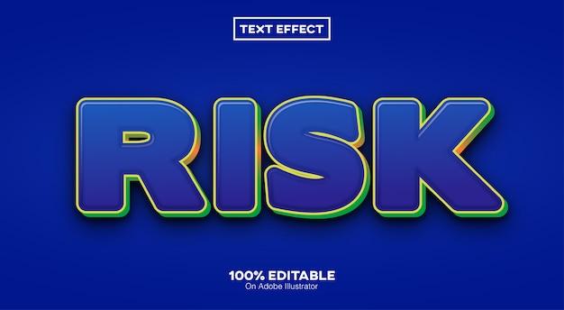 Risiko 3d-texteffekt