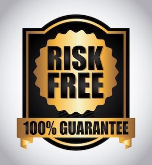 Risikofrei über graue hintergrundvektorillustration