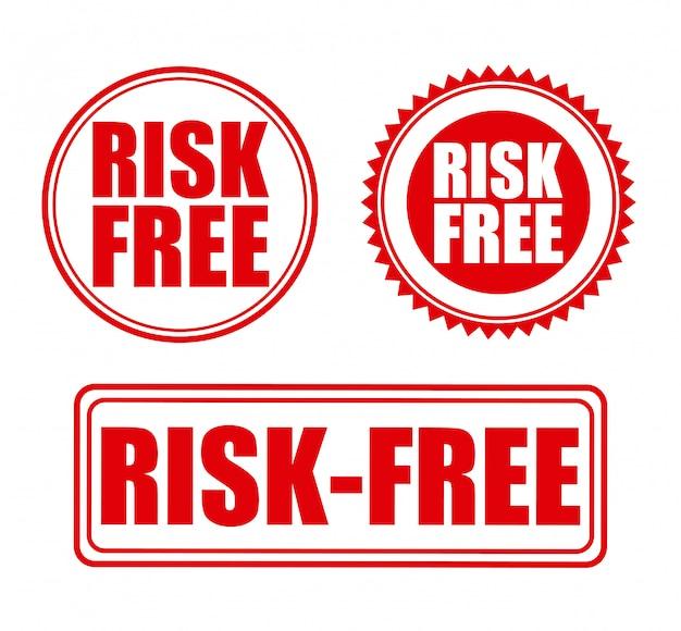 Risikofrei über weißer hintergrundvektorillustration