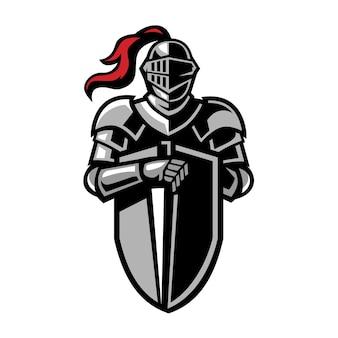 Ritter abzeichen logo design