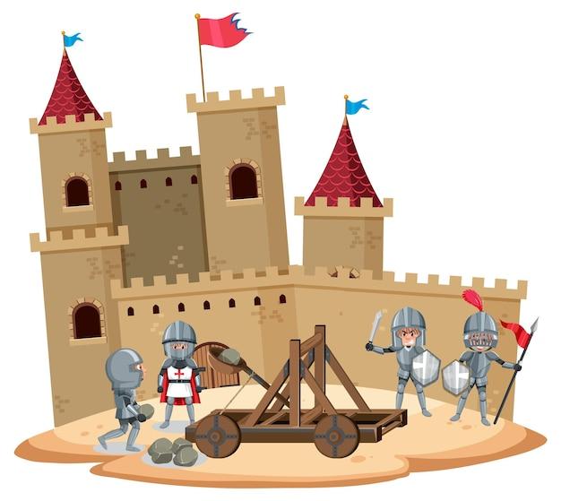 Ritter auf der burg