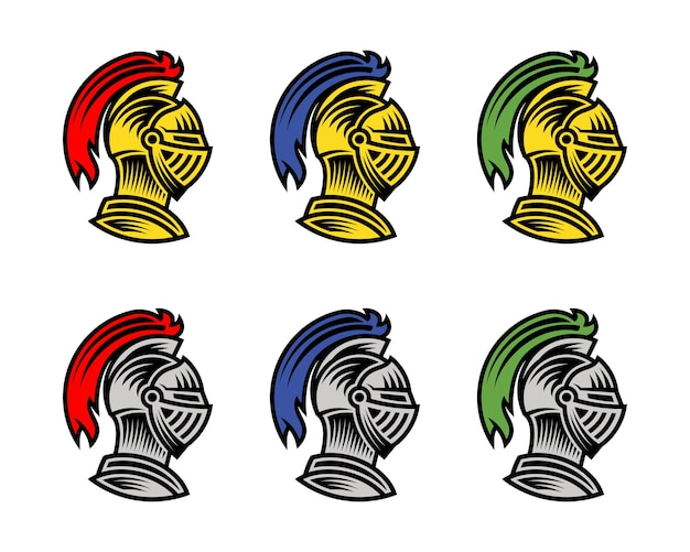 Ritter helm, könnte als logo-symbol oder avatar verwendet werden