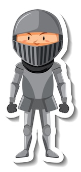 Ritter in rüstung cartoon-aufkleber