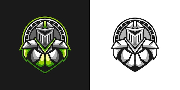Ritter-maskottchen-design