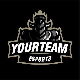 Ritter maskottchen gaming-logo