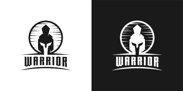 Ritter spartanisch, krieger, gladiator helm kopf logo design inspiration