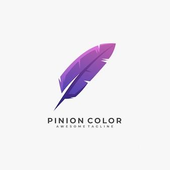 Ritzel farbverlauf buntes logo.