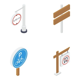 Road boards isometric pack