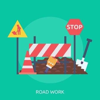 Road work konzeptionelles design