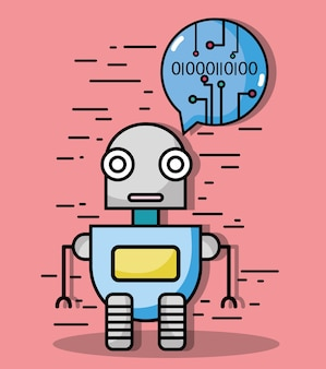Robbot-technologie mit chat-bubble-code