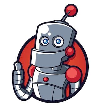 Robo maskottchen logo