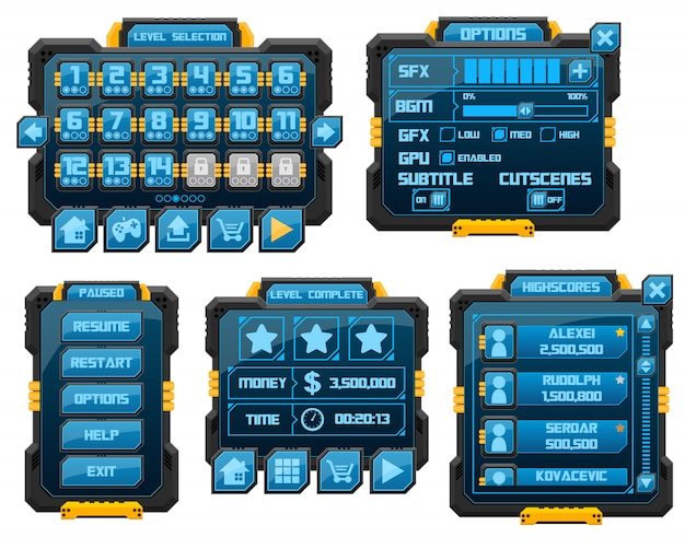 Robot game gui
