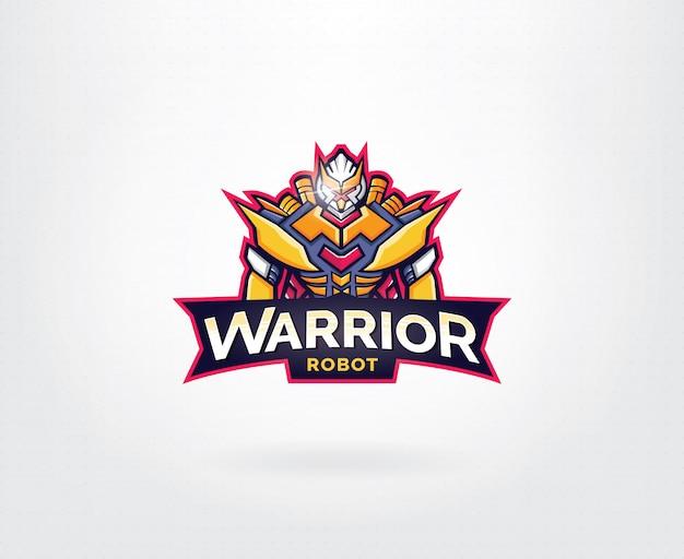 Robot maskottchen-logo-design
