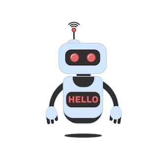 Roboter, chatbot, technologie, science fiction 3d.