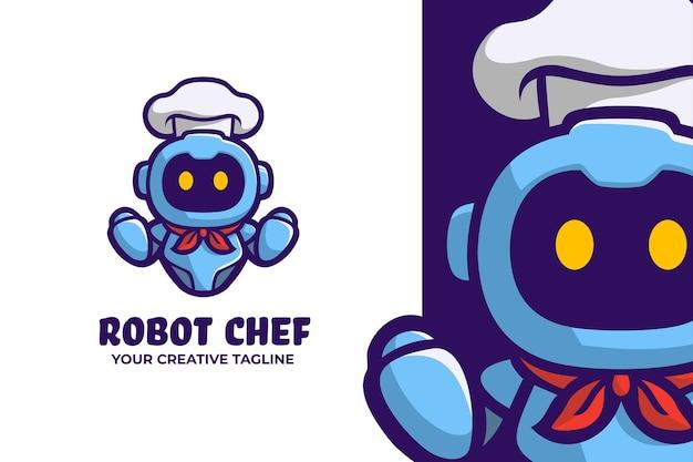 Roboter chef restaurant logo maskottchen