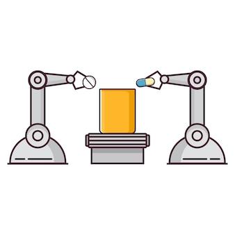 Roboter, der medizinpillen verpacktmedical factory