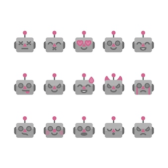 Roboter-emojis-symbole