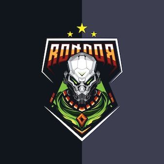 Roboter-esport-logo-design für spiele