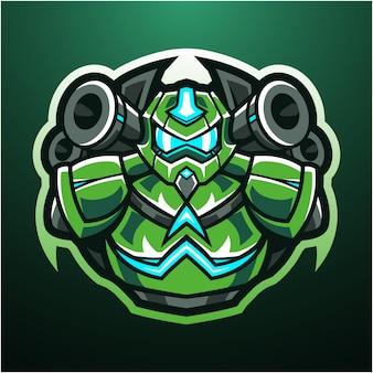 Roboter esport maskottchen logo