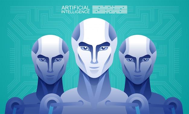 Roboter für künstliche intelligenz