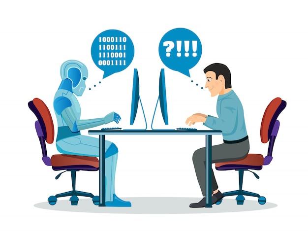 Roboter gegen den menschen