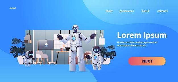 Roboter-geschäftsleute planen agenda auf task board zeitmanagement-technologie für künstliche intelligenz