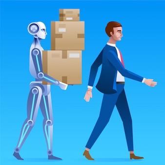 Roboter hilft menschen.