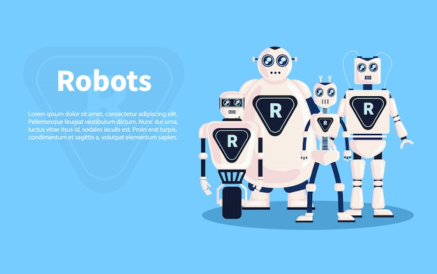 Roboter hintergrundillustration