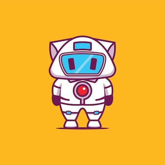 Roboter kitty illustration