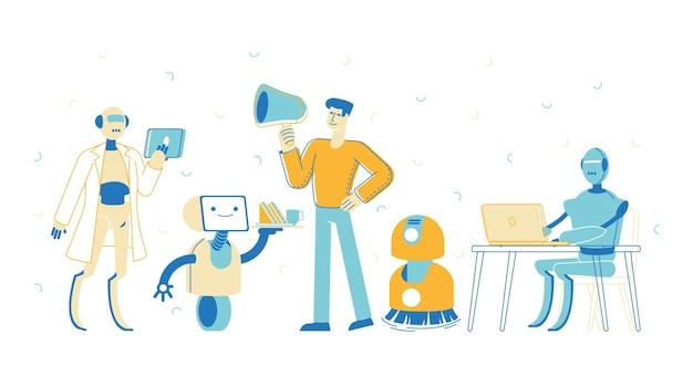 Roboter, künstliche intelligenz im menschlichen leben