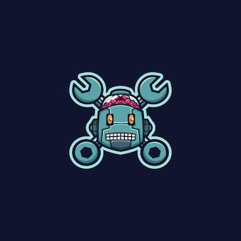 Roboter logo maskottchen
