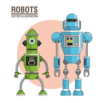 Roboter-maschinen-technologiebild