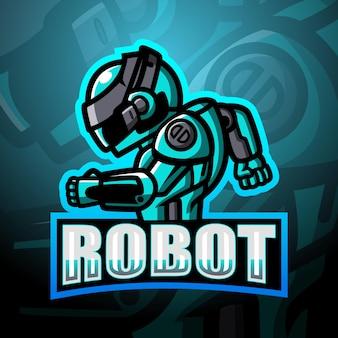 Roboter maskottchen esport illustration