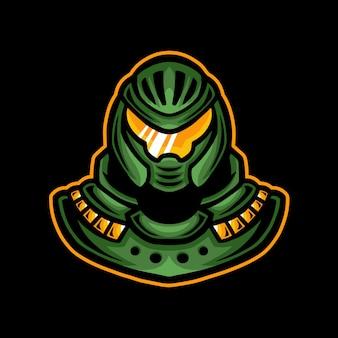 Roboter maskottchen gaming logo esport