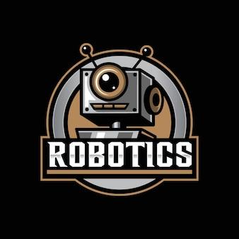 Roboter-maskottchen-logo