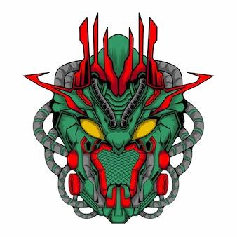 Roboter-mecha-soldatenkopf