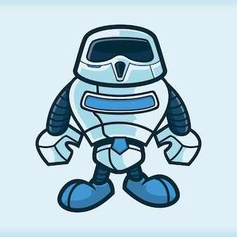 Roboter menschen maskottchen zeichentrickfiguren