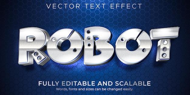 Roboter-metallic-texteffekt Kostenlosen Vektoren