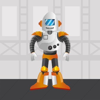 Roboter-metallillustrationsprämie